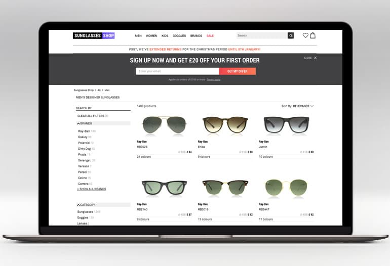 Sunglasses Shop Referral Code